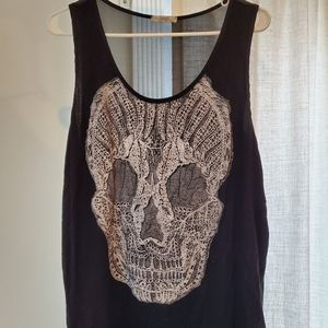 Womens skull top